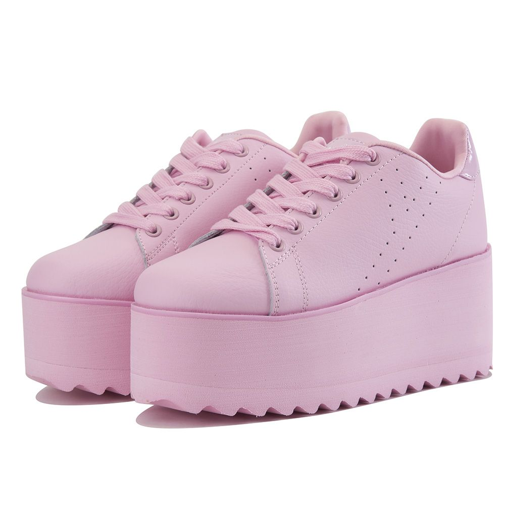 e6cea6c27959 Y.R.U. for Women  Lala Pink Platform Sneakers