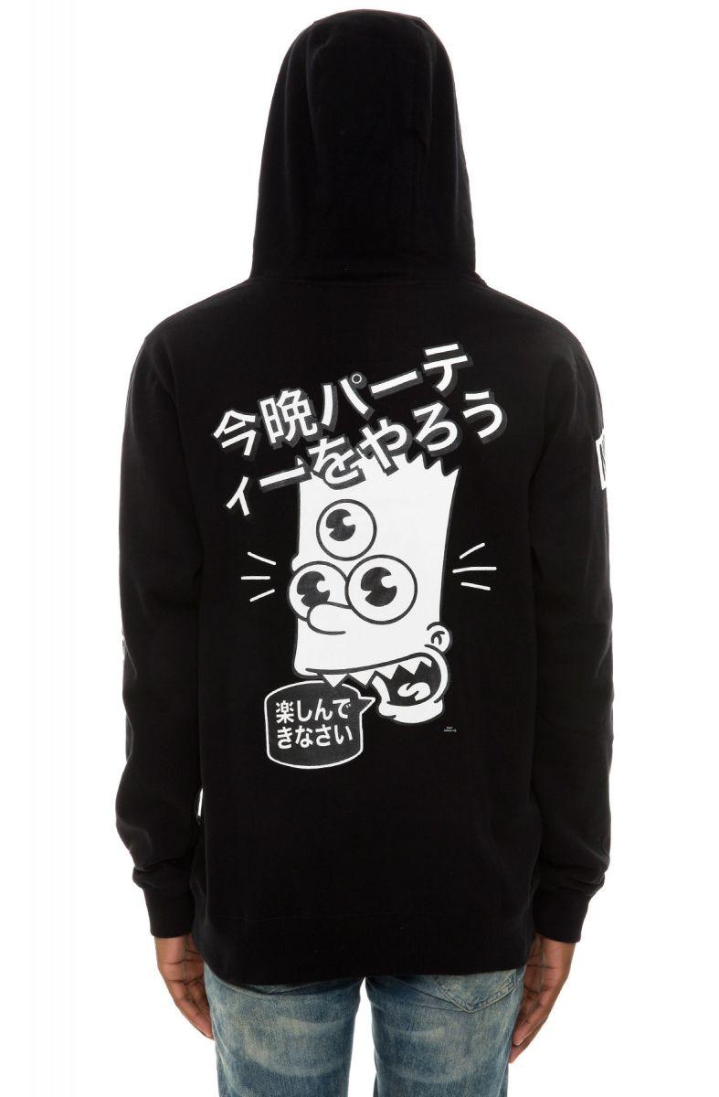 neff hoodie neff  simpsons wasabi black