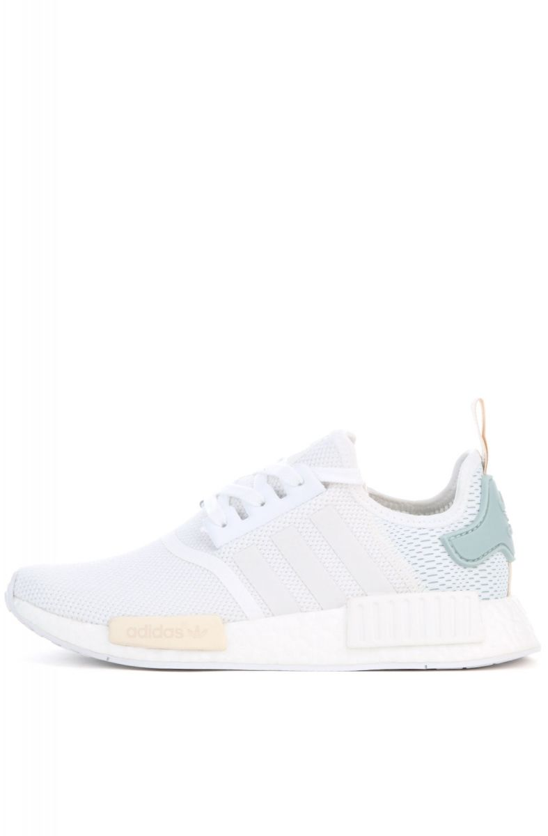 The adidas Women s NMD R1 in White and Tactile Green af7248ef1