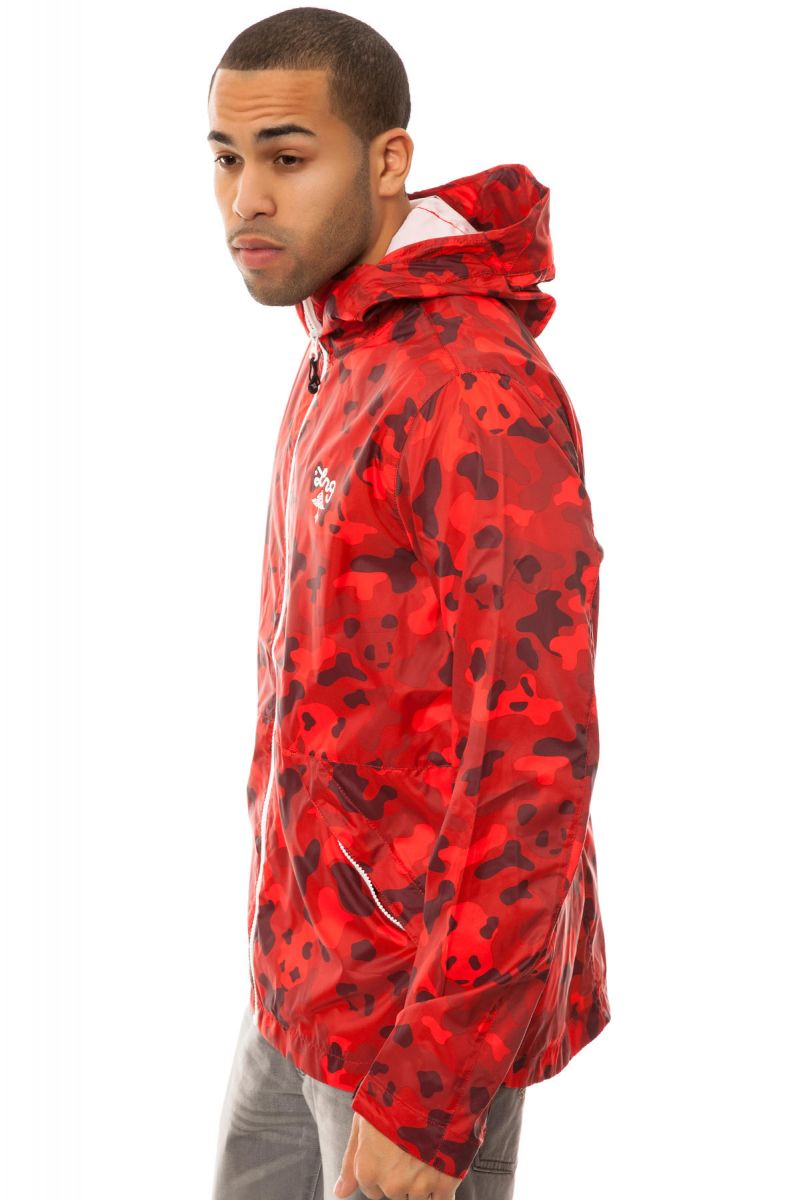77363c957ba70 LRG Core Collection Jacket Core Collection Windbreaker Panda Camo Red