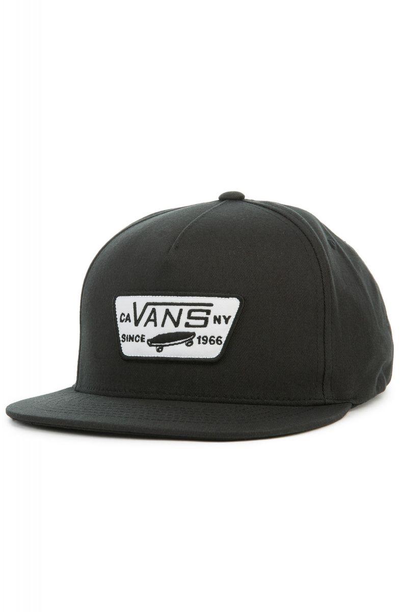 ec1dbdc407e Vans Hat Full Patch Snapback Dress True Black