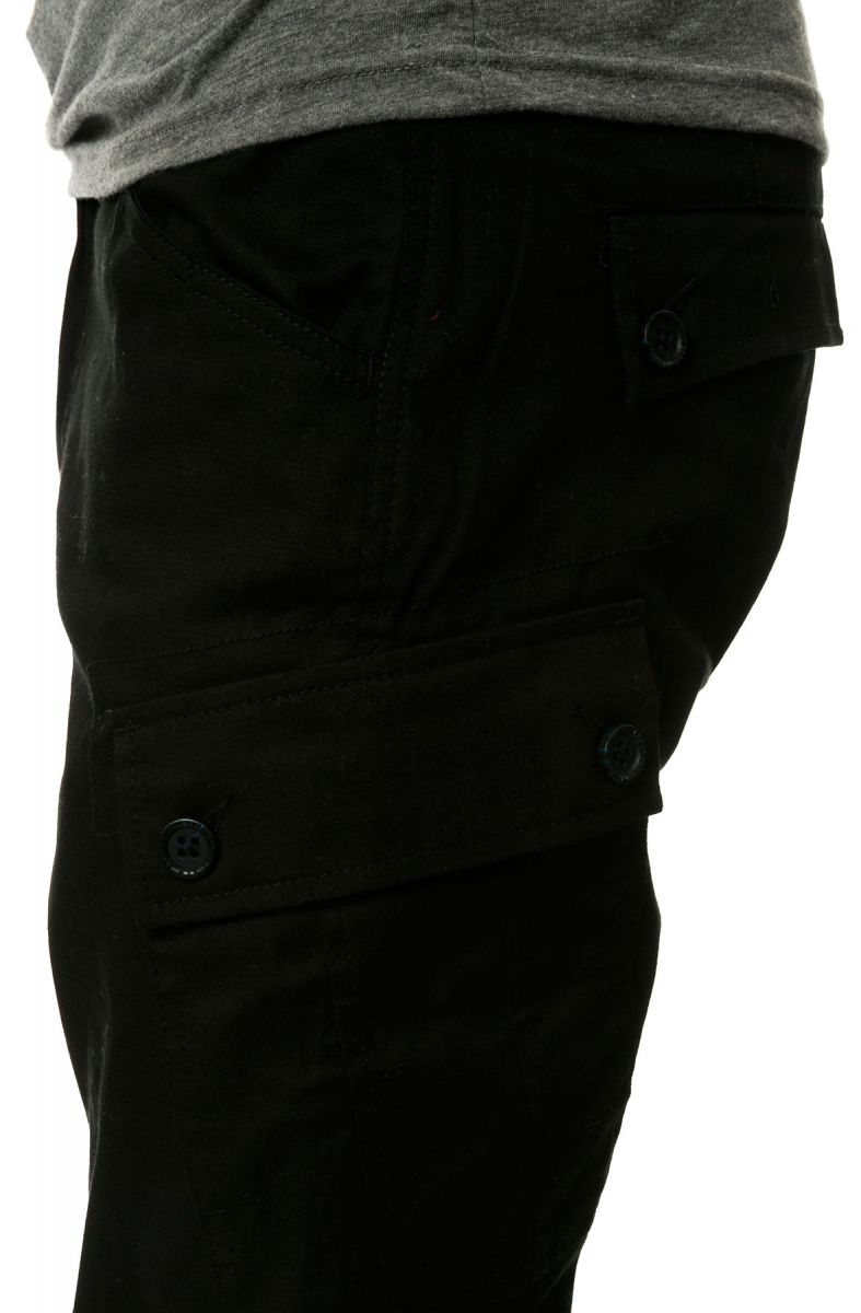 973674ff3480 ... The Jordan Slim Lightweight Stretch Twill Cargo Jogger Pants in Black  ...