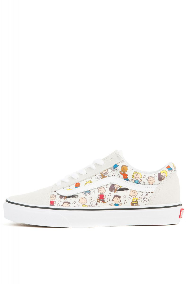 0eb9b1ce68 The Women s Vans x Peanuts Old Skool in Multi and True White