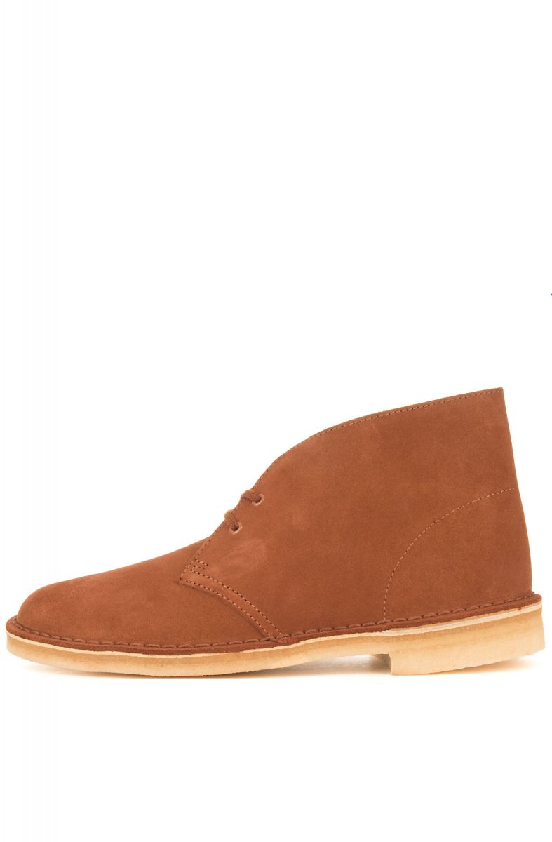 ed1acd52268 The Clarks Suede Desert Boots in Dark Tan