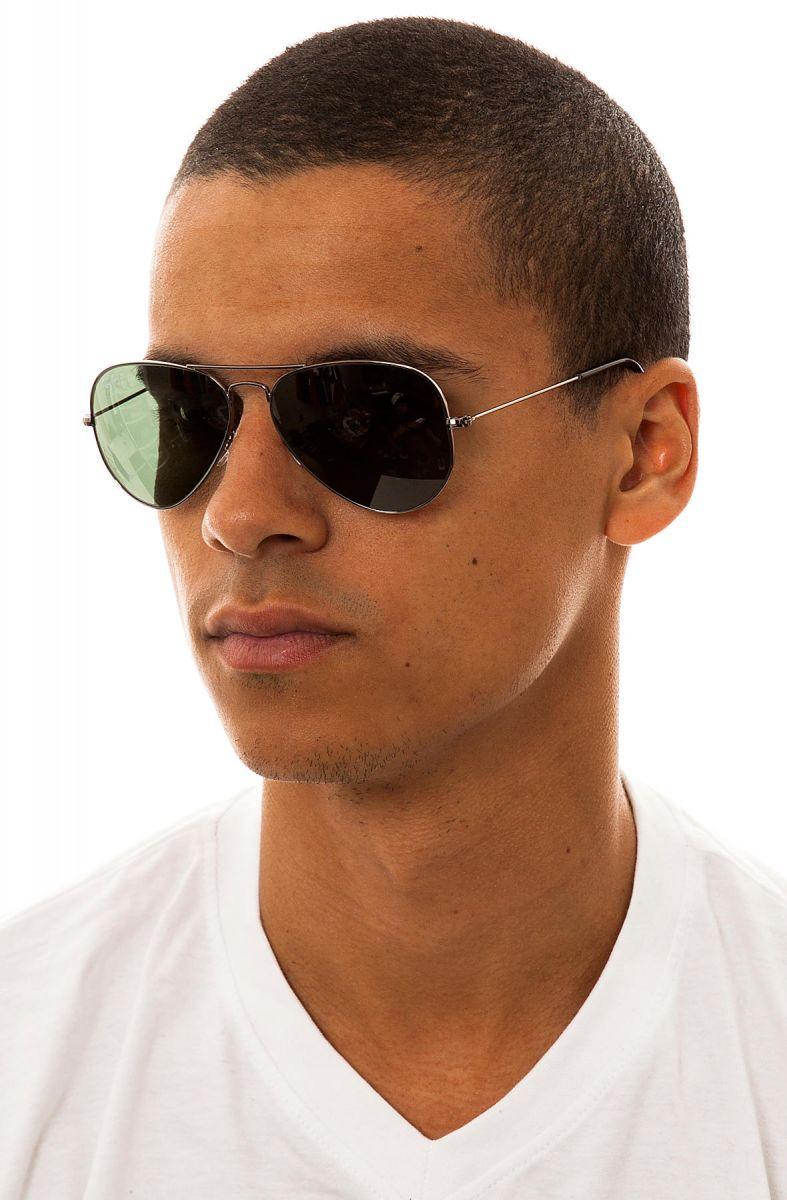 ec1f3efb2281 Ray Ban Sunglasses 58mm Large Aviator in Gunmetal Grey