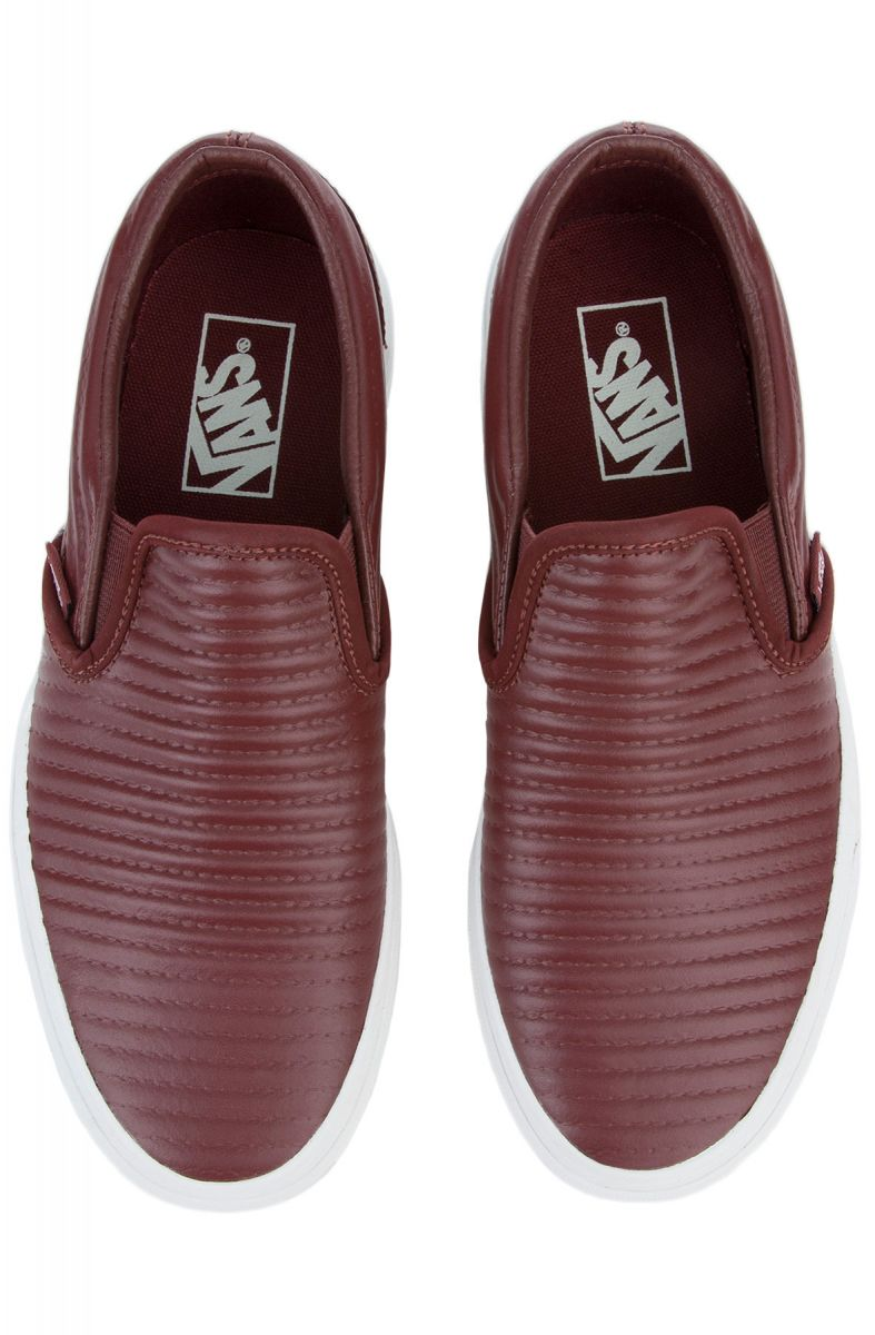 e39ddd079d54 ... The Women s Classic Slip Moto Leather in Madder Brown and Blanc De Blanc  ...
