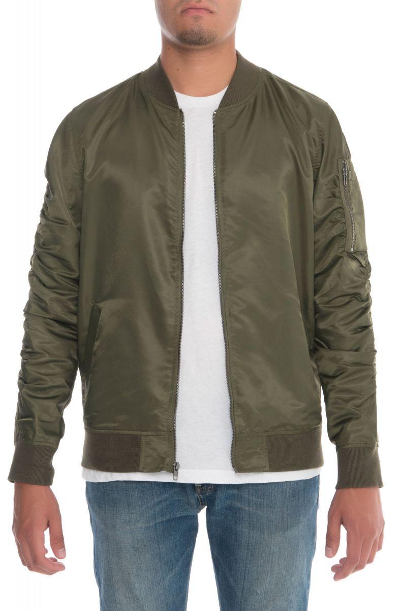 6a9c5d4a99f7 Elwood Jacket Bomber Olive Green
