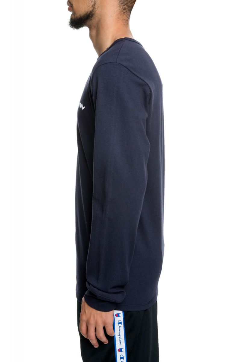 09511314 ... The Heritage Champion Script Long Sleeve in Oxford Navy ...