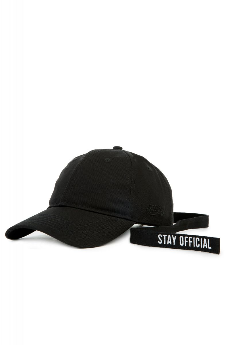 e5dcb99e8ed The Stay Official Extra Long Strap Dad hat in Black