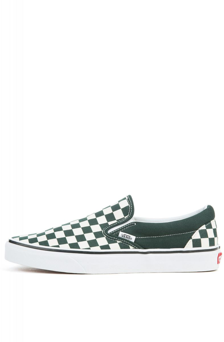 321a9c3731ad The Unisex Classic Slip-On in Scarab and White Checkerboard