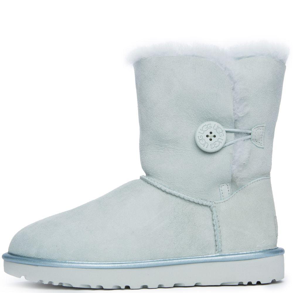 834a9507bfd UGG Australia Bailey Button II Women's Iceberg Metallic Boot