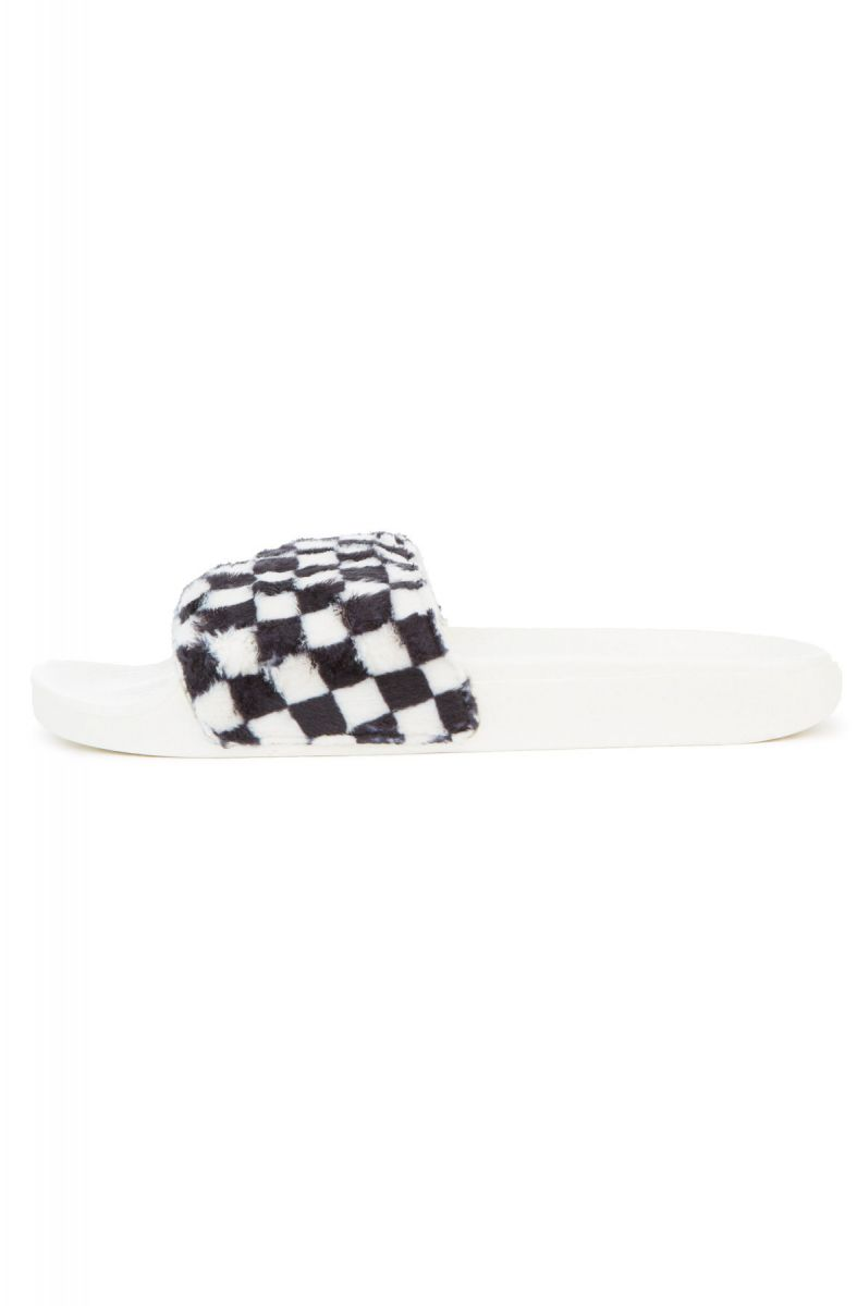 07f342efd21 ... The Women s Slide-On Sherpa Checkerboard in Black and True White ...