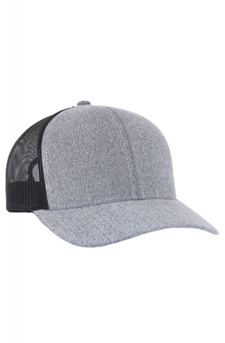 8a23fff98 The Flannel Trucker Hat in Heather Gray & Black