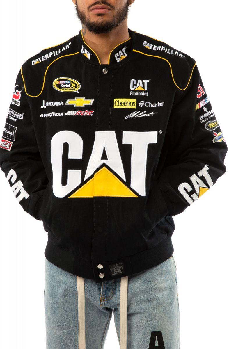 Cat Jeff Burton Nascar Racing Jacket