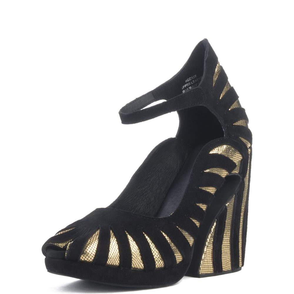 034eb517386 Jeffrey Campbell for Women  Hecate Gold Platform Wedges