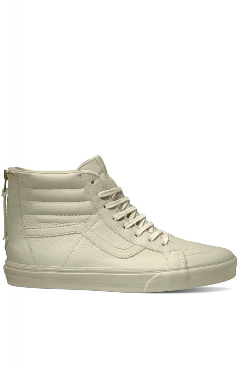 Vans Sneaker The Sk8-Hi Zip CA in Boot Leather Agate Grey 26e6f8226b