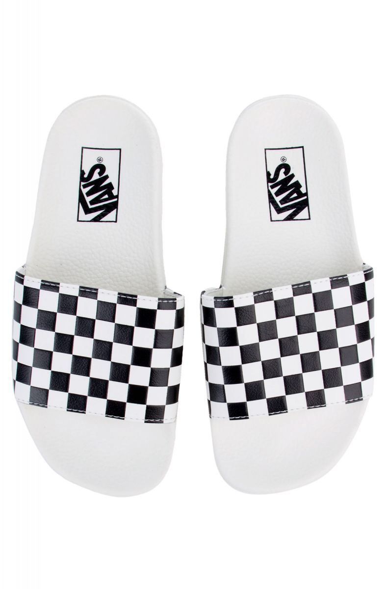 d86eddfee03 The Women s Checkerboard Slide-On in White and Black