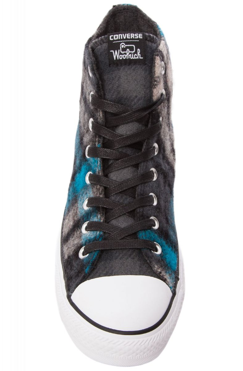 762248abf47905 ... The Chuck Taylor All Star High Top Woolrich Collab Sneaker in Black