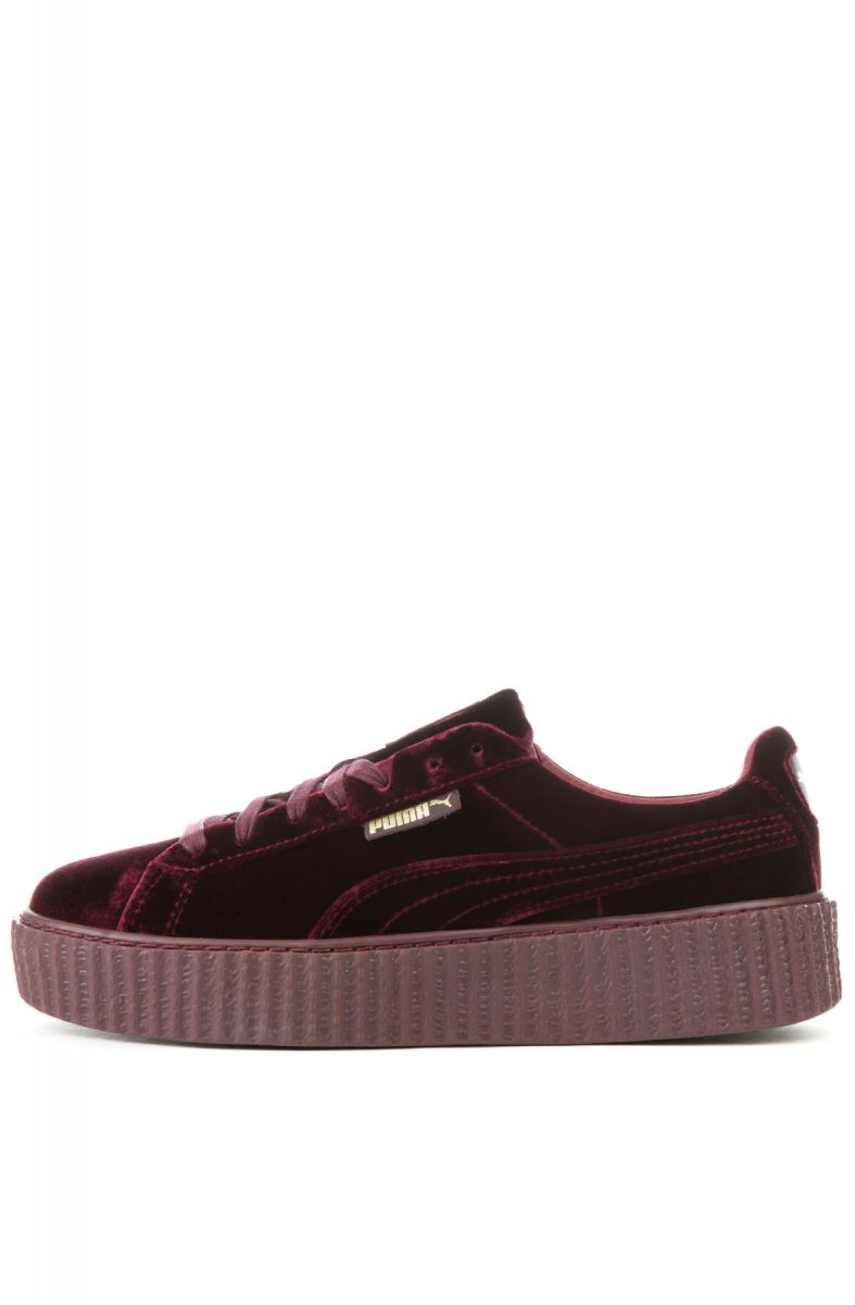 The Women s Puma x Fenty by Rihanna Creeper Velvet in Royal Purple and  Royal ... ae0678334