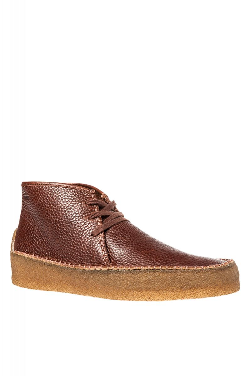 The Wallabee Ridge Shoe in Brown Tumbled Leather ...