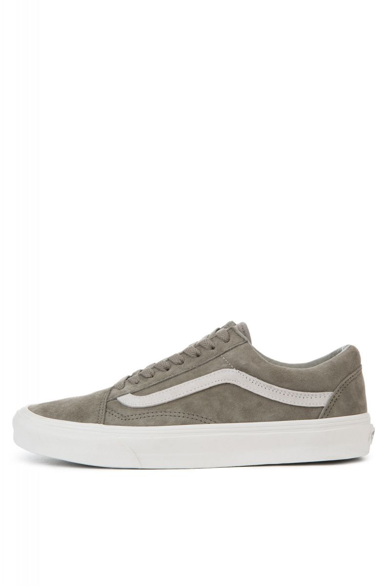 360fbda47ab3e1 Vans Sneaker Old Skool Pig SuedeFallen Rock Blanc de Blanc Grey