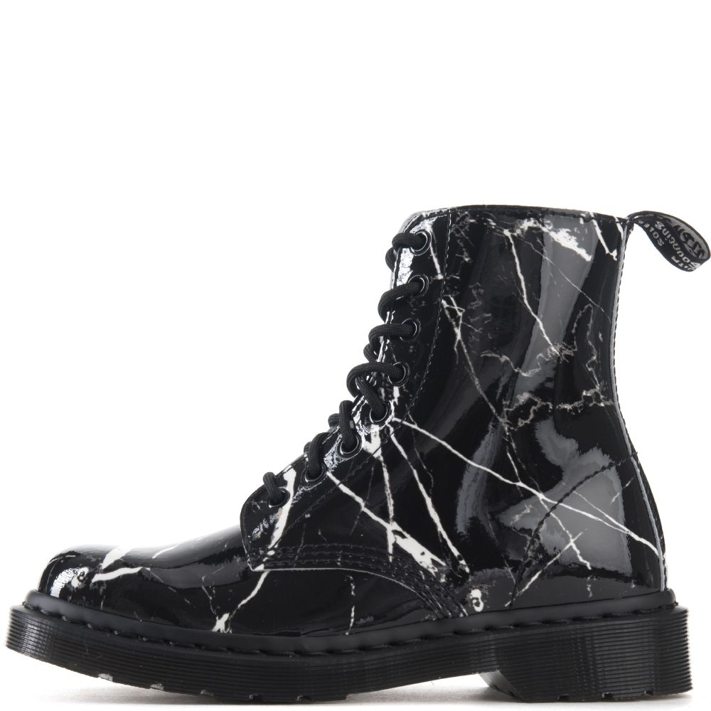 Dr Martens For Women Pascal Black Marble Boots