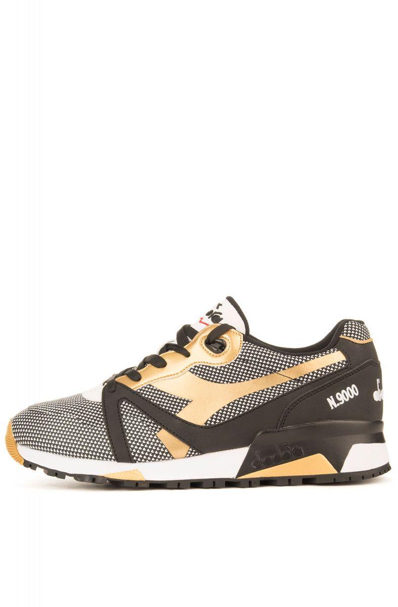 3fe74a0c The Diadora N9000 Arrowhead Sneakers in Black & Gold