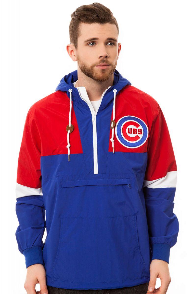 047cd955c13 Mitchell   Ness Windbreaker The Chicago Cubs Half Zip in Blue