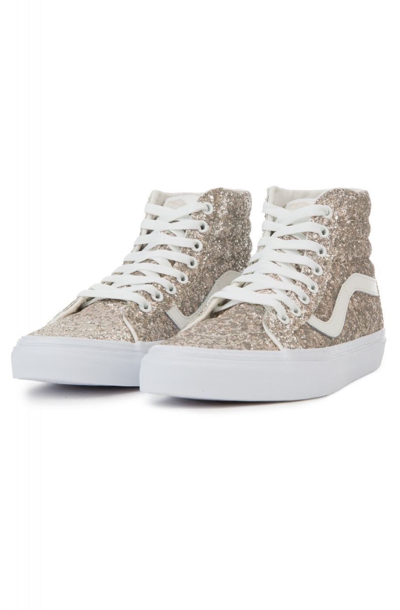 c7c85fcee32 The Women s Sk8-Hi Reissue Chunky Glitter in Multi and True White