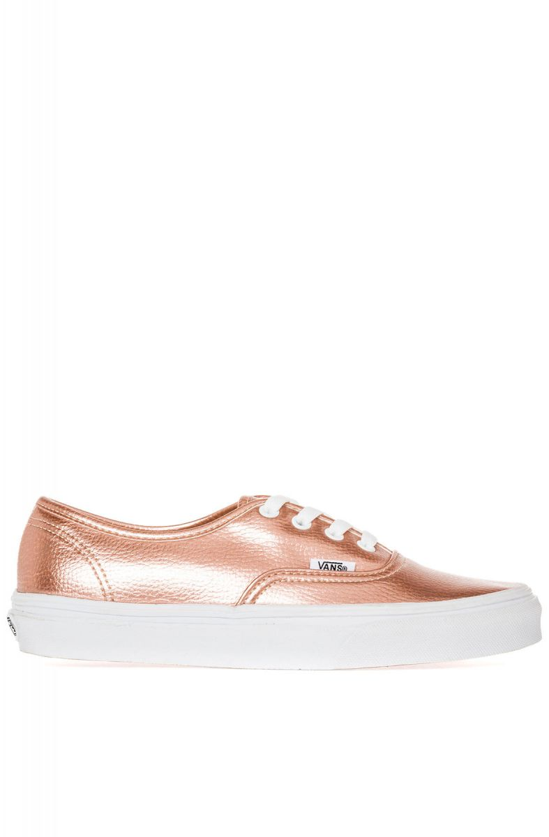 d8ce32cc0a0f Vans Footwear Sneaker The Authentic in Rose Gold Glitter Leather Pink