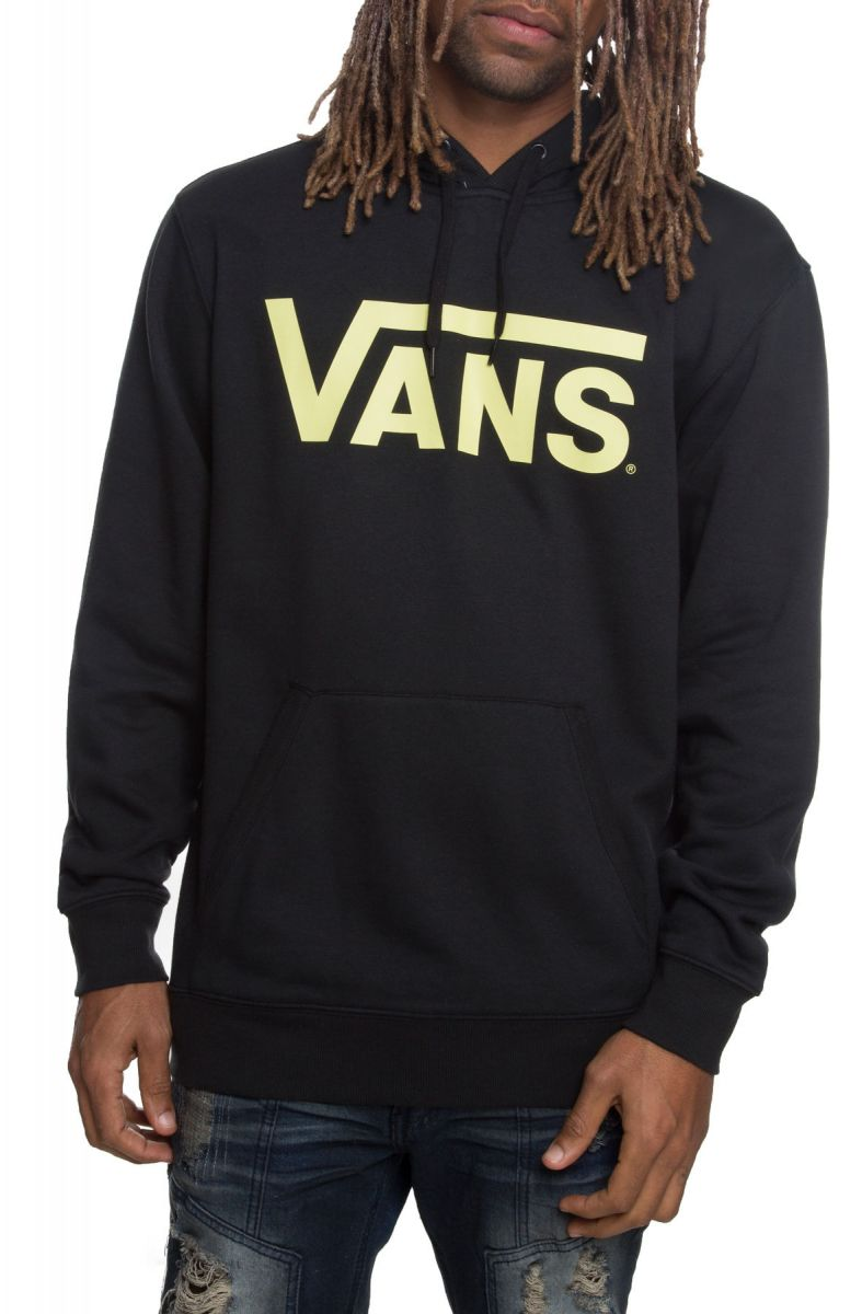 36e110c74e The Vans Classic Pullover Hoodie in Black and Lime