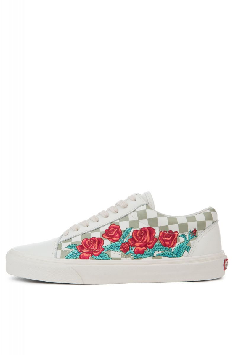 e4af50dfd853e0 The Old Skool DX Rose Embroidery in Marshmallow and Turtle Dove ...