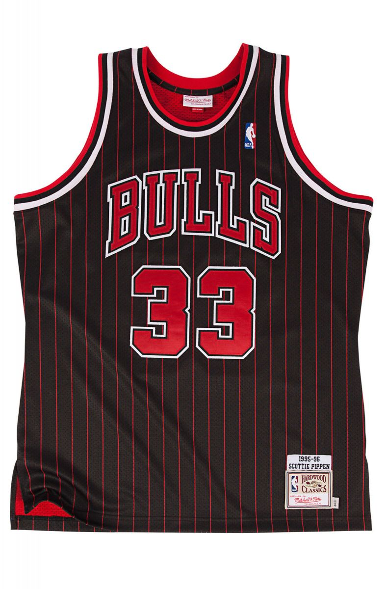 The Chicago Bulls Authentic Scottie Pippen  33 Basketball Jersey in ... 60db6470d