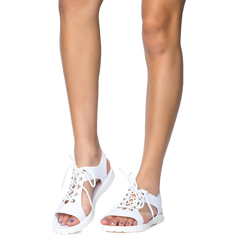 19c6356a40f2 Women s Crystal-2 Lace-Up Flat Sandal