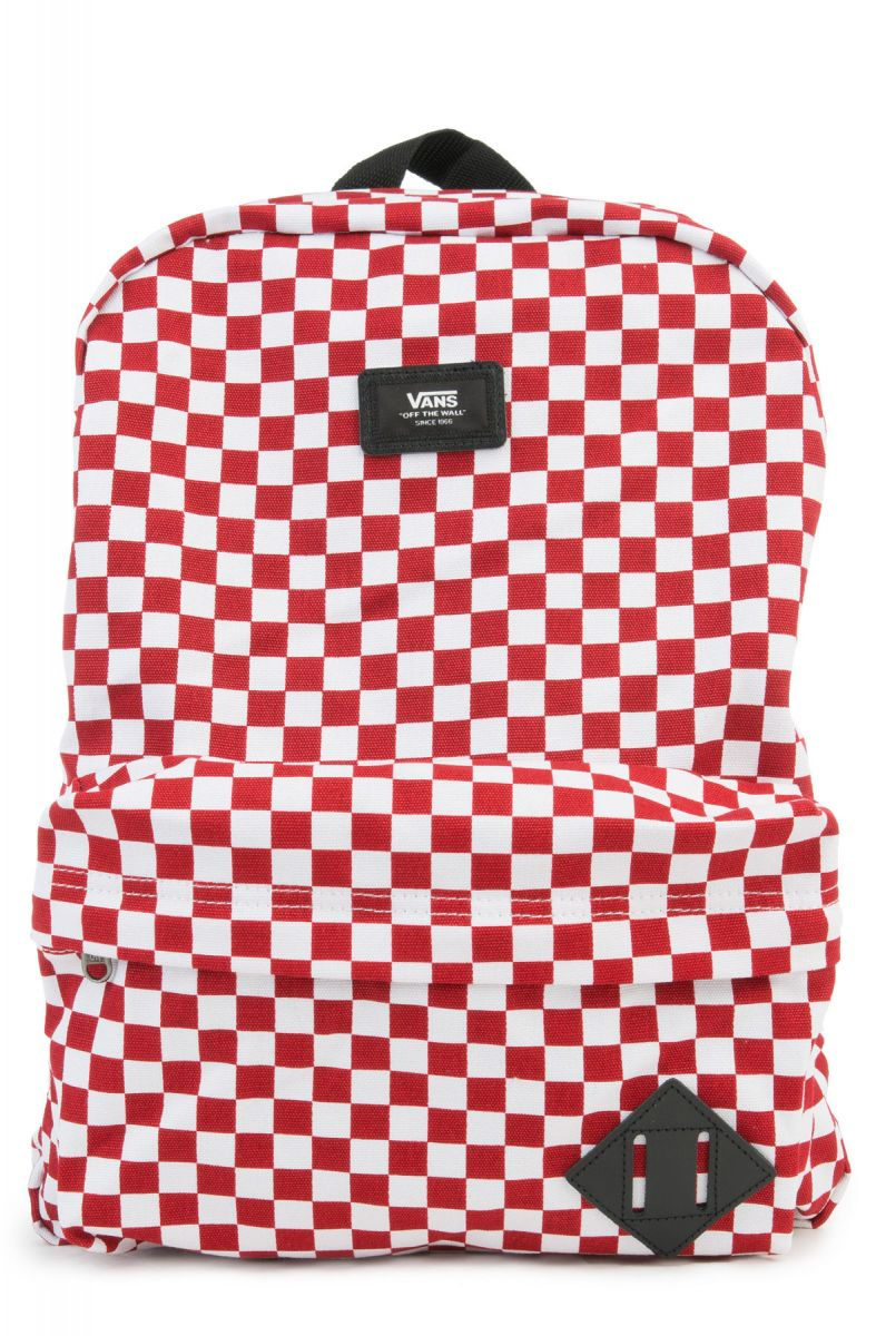 48c1766abe4 Vans Backpack Old Skool II Red/White Check