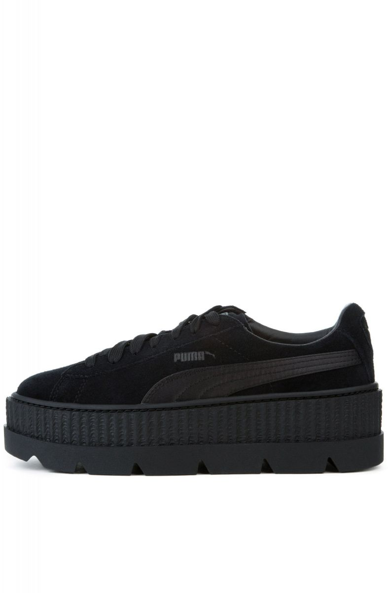 big sale 66070 41e27 The Puma x Fenty Women's Cleated Creeper Suede in Puma Black