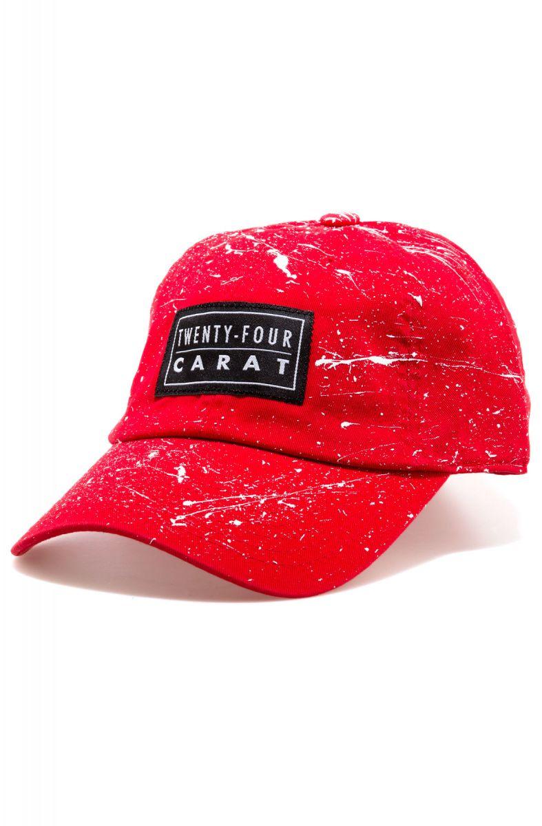 Twenty-Four Carat Hat Splatter Dad Red   White 62dce755442