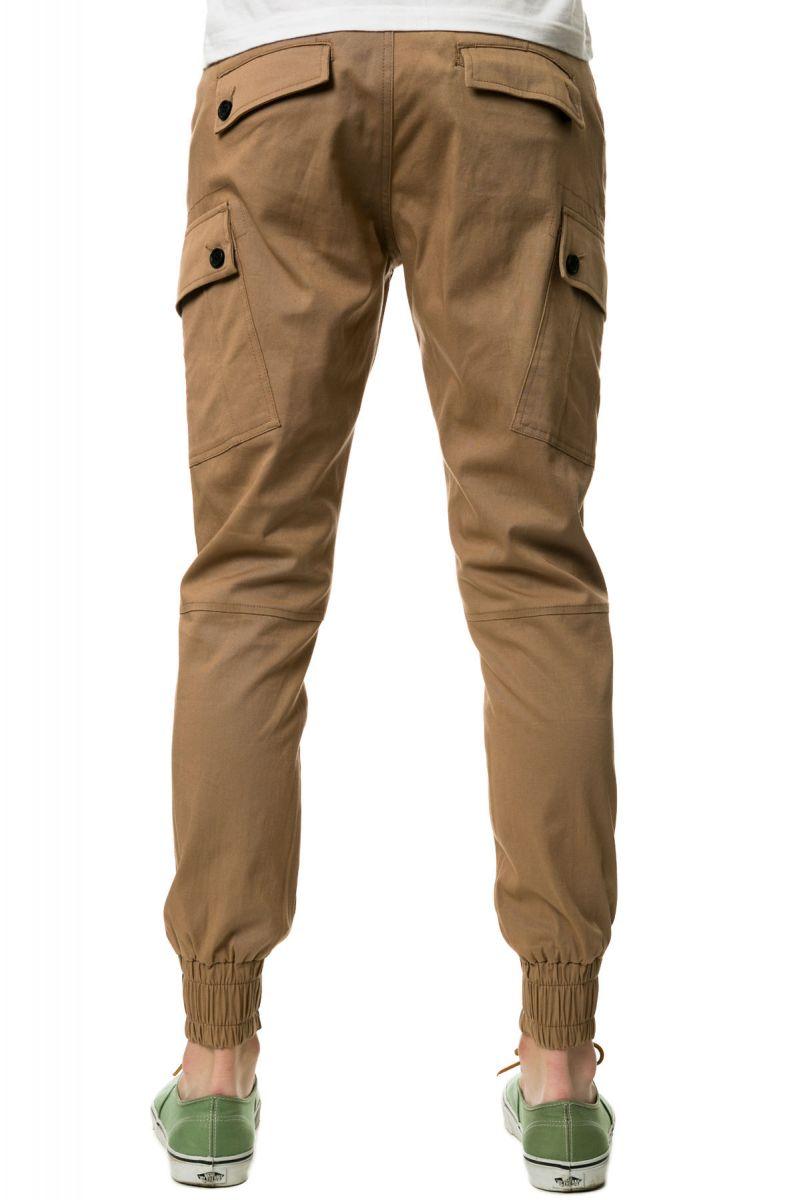 374c7de1bd1b ... The Jordan Slim Lightweight Stretch Twill Cargo Jogger Pants in Khaki  ...