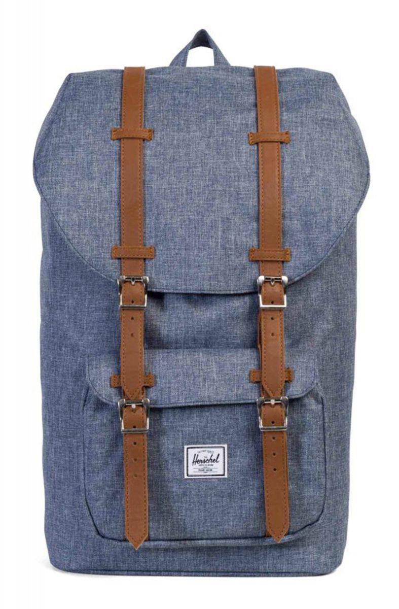 da3ed3c2080 Herschel Backpack Little America Dark Chambray Crosshatch Blue