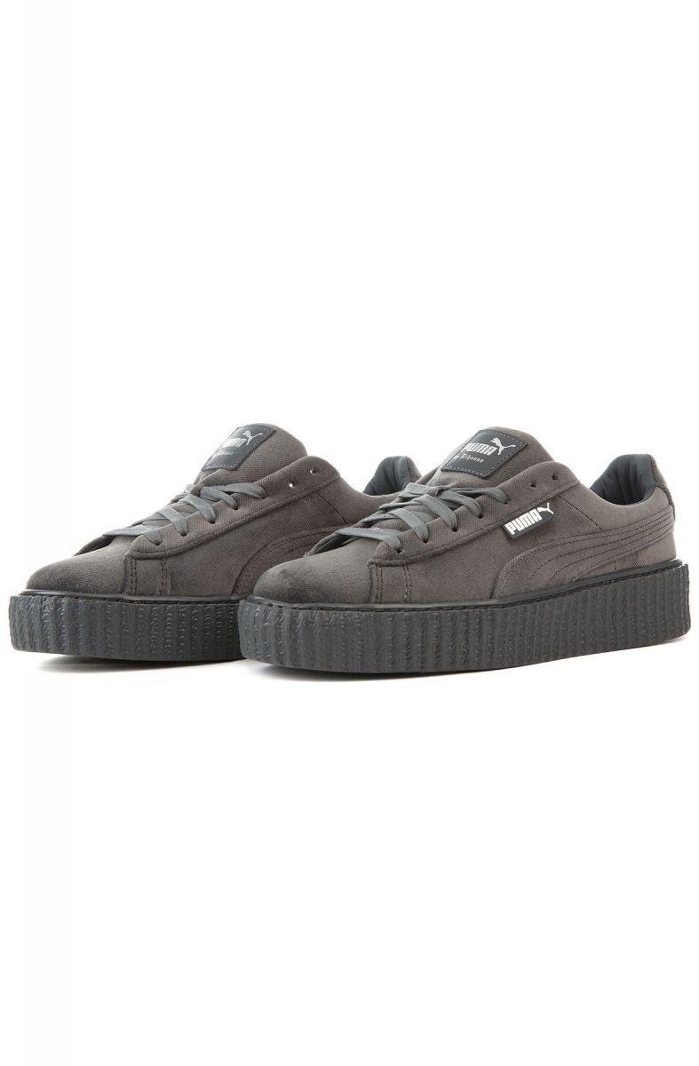 buy popular 634a3 f4805 greece puma creeper velvet grey bfdf2 6f93d