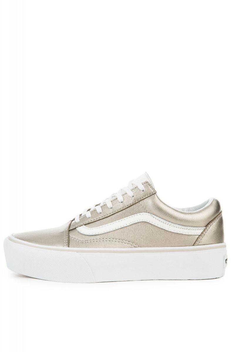 4d7388c49d Vans Sneaker Old Skool Platform Gray Gold and True White