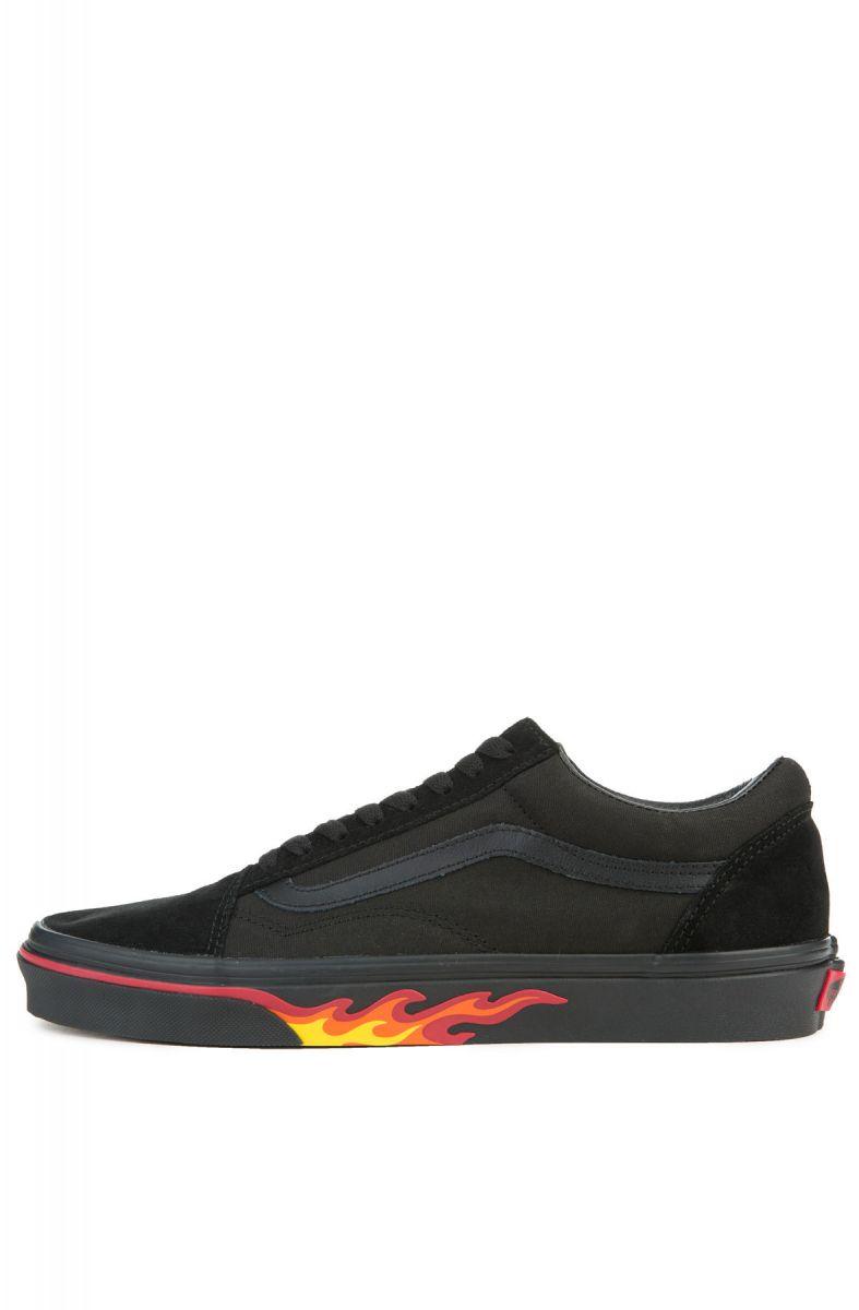 04586b7eda35 Vans Sneakers Men s Old Skool Flame Wall Black