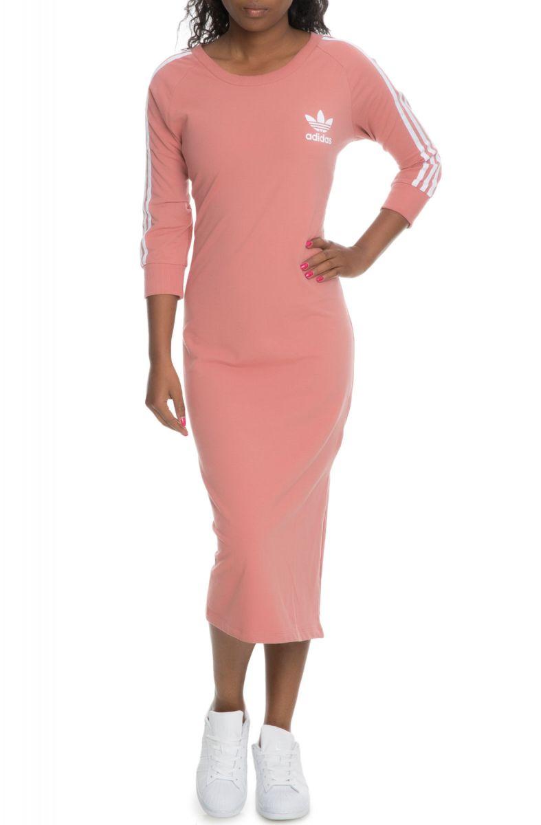 abe73e81f3 adidas Dress 3 Stripe Raw Pink