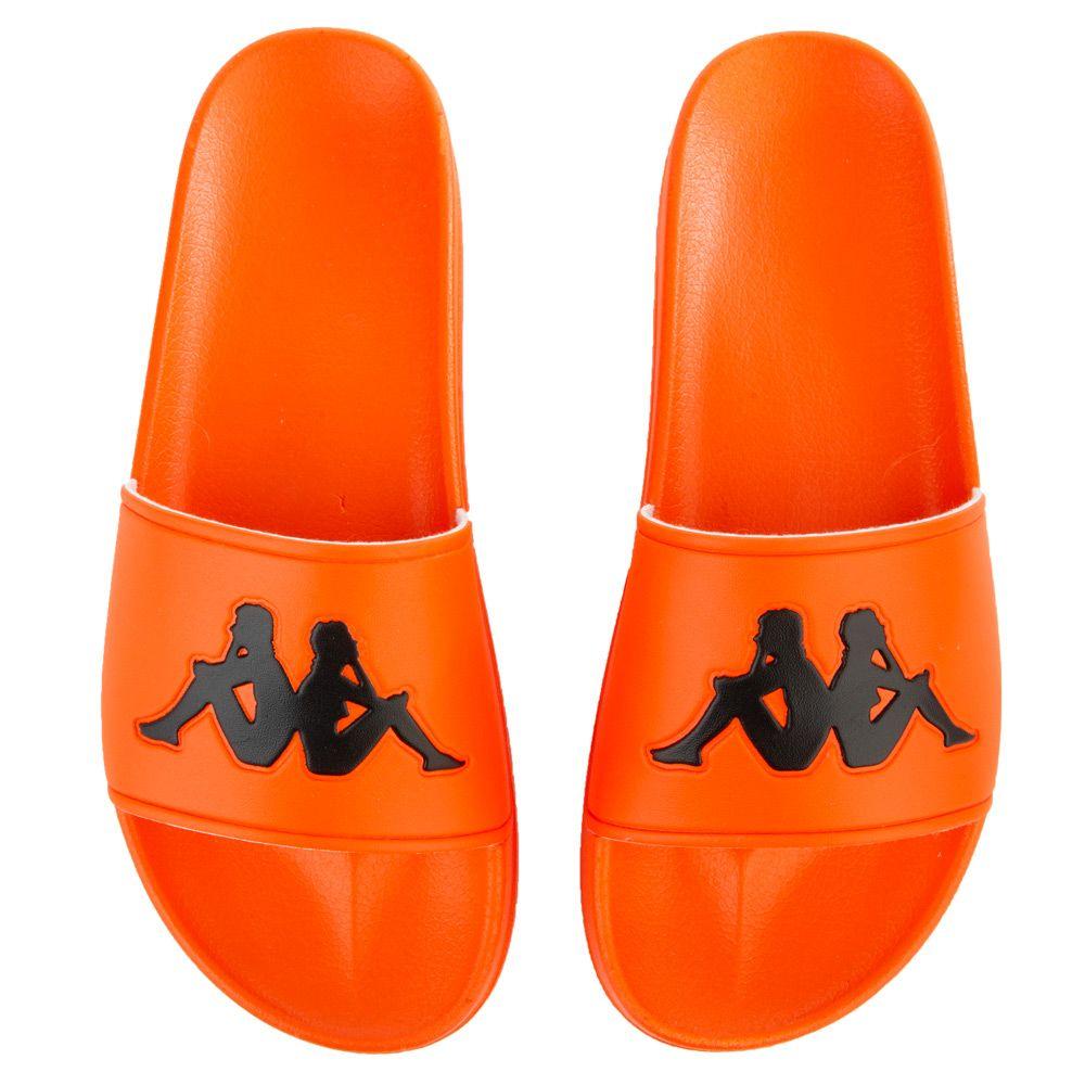 94352b13 Authentic Adam 2 Slides in Orange Flame/Black