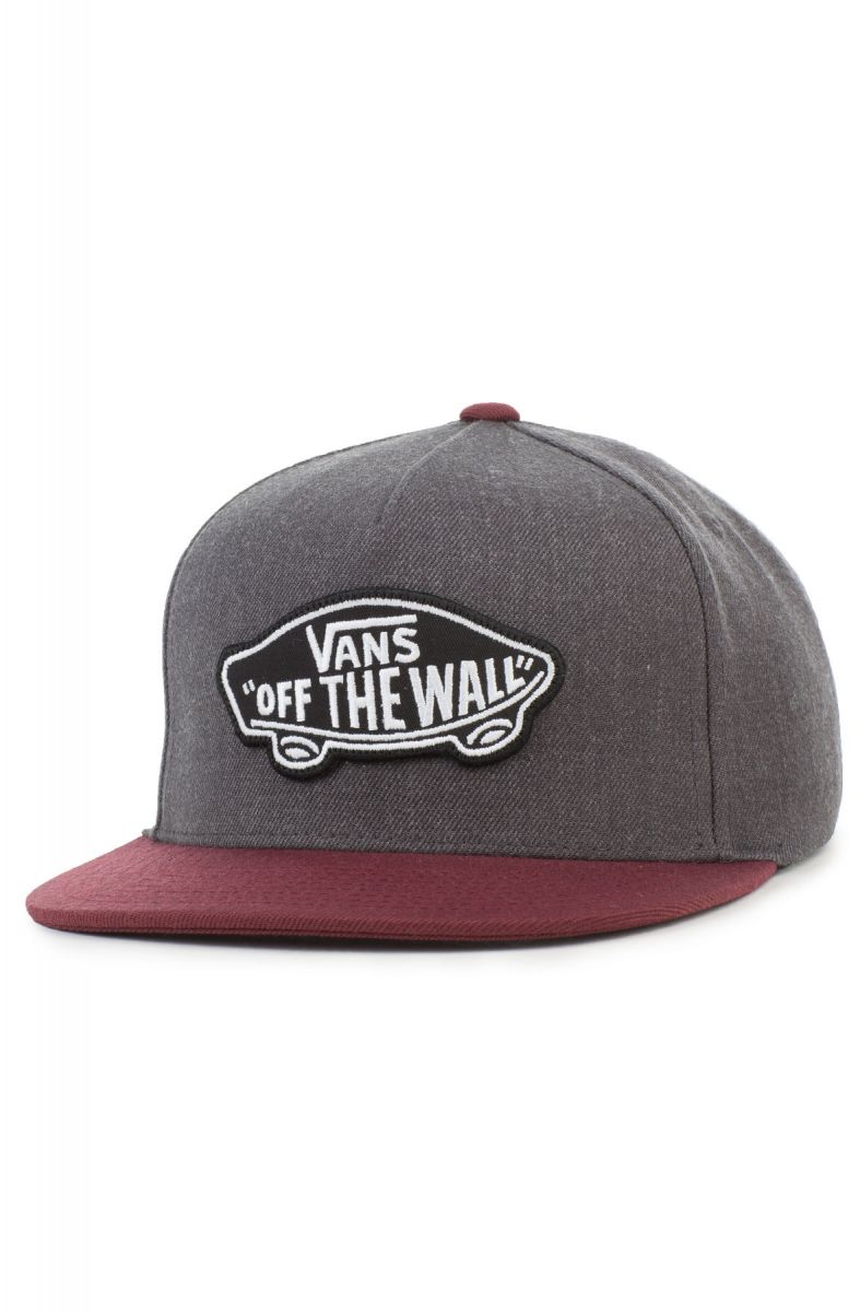 986cb53a5cd The Classic Patch Snapback in Heather Black and Port Royale