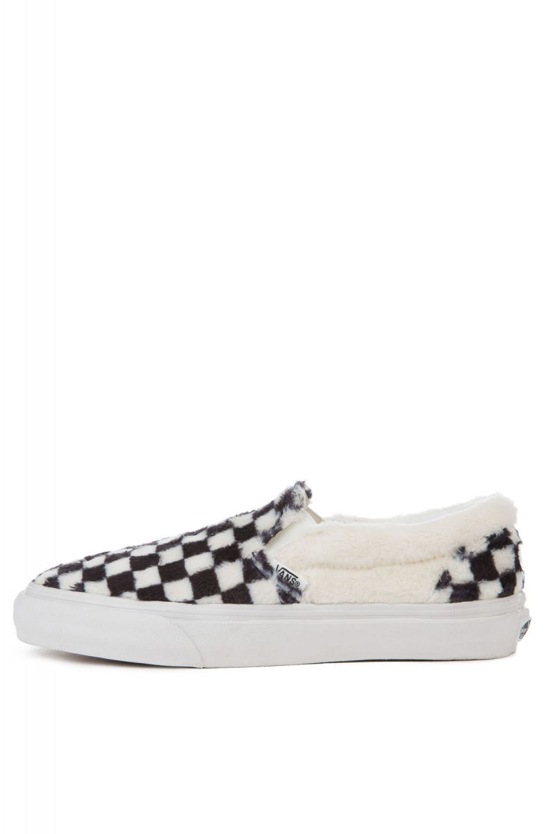 f229bec9684 The Women s Classic Slip-On Sherpa Checkerboard in Black and True White