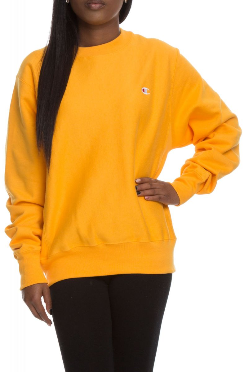 b10e6b0dec4c The Reverse Weave Crew Sweater in C Gold