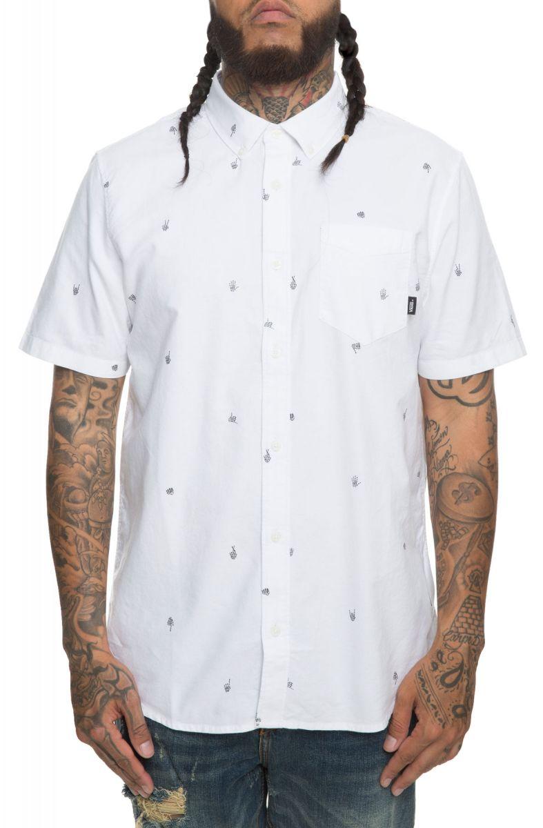 548c1b8f8d7 Vans Shirt Houser Button Down Boneyard White