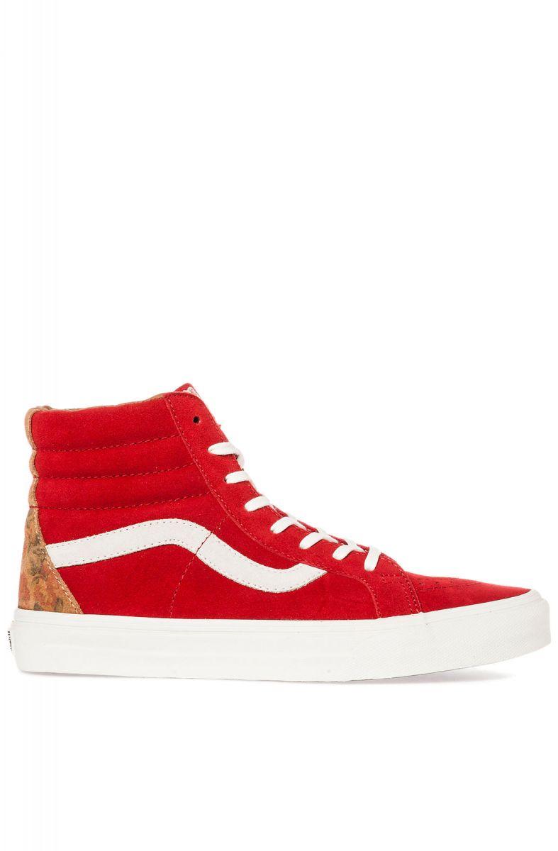 4d970000b6 Vans Footwear Sneaker The Sk8-Hi Reissue CA in Tango Red Floral Suede Red