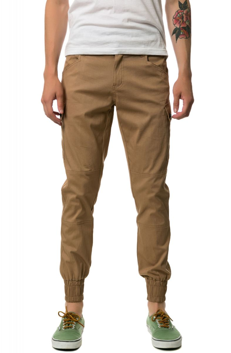 brand new 2eb2c 71d68 The New Standard Edition Joggers Jordan Slim Lightweight Stretch Twill  Cargo Jogger Pants in Khaki